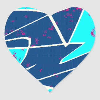 BLUEBIRD OF HAPPINESS! HEART STICKER