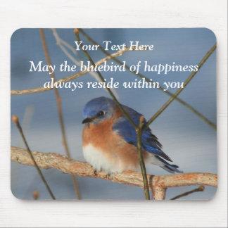 Bluebird Of Happiness Inspirational Mousepad