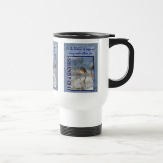 Bluebird Of Happiness Inspirational Travel Mug
