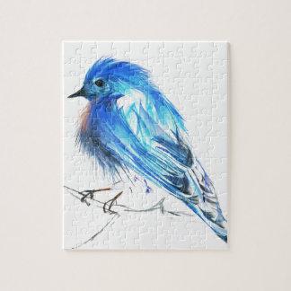 Bluebird of happiness jigsaw puzzle
