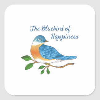 BLUEBIRD OF HAPPINESS SQUARE STICKER