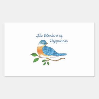 BLUEBIRD OF HAPPINESS RECTANGULAR STICKER