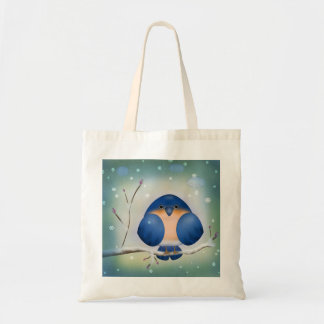 Bluebird of Winter Tote Bags