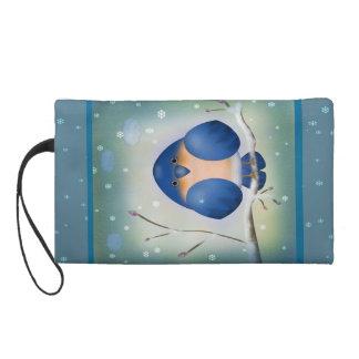 Bluebird of Winter Wristlet