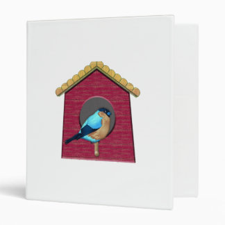 Bluebird on Barn Red House 3 Ring Binder