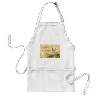 Bluebird on Branch & Victor Hugo Quote Adult Apron