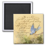 Bluebird on Branch & Victor Hugo Quote Refrigerator Magnets
