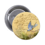 Bluebird on Branch & Victor Hugo Quote Pins