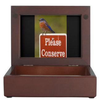 Bluebird, Please Conserve Keepsake Boxes