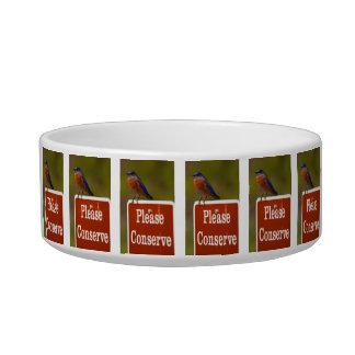 Bluebird Please Conserve Pet Bowl