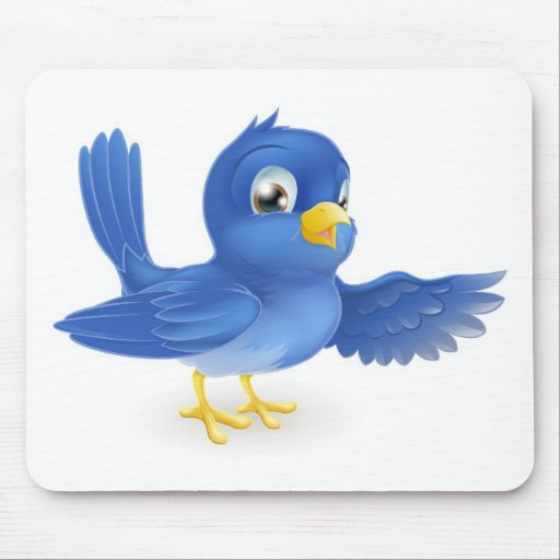 Bluebird pointing mousemats