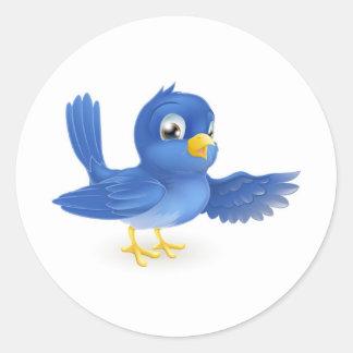 Bluebird pointing sticker