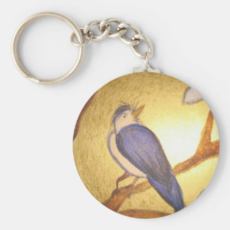 bluebird print products, baby clothes, aprons basic round button keychain