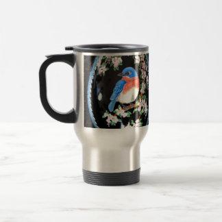 Bluebird Pysanky Travel Mug