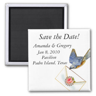 Bluebird Save the Date Magnet