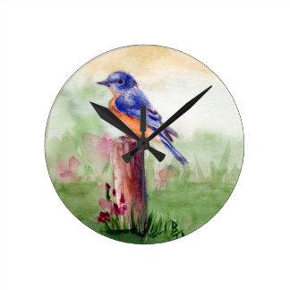 Bluebird Song Wall Clock