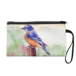Bluebird Song Wristlet Purse