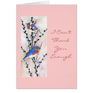 Bluebird Thank You card