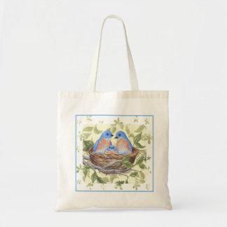 Bluebird tote canvas bag