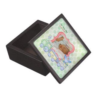Bluebird Toy Train - Baby Birth - Customize Premium Keepsake Boxes