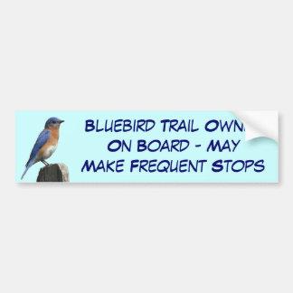 Bluebird Trail Stops Bumper Sticker