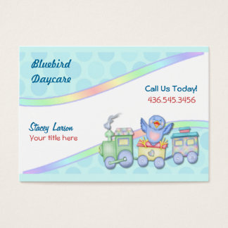 Bluebird Train Business Card