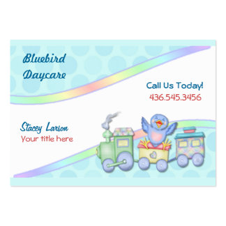 Bluebird Train Large Business Cards (Pack Of 100)