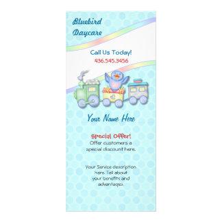 Bluebird Train Rack Card