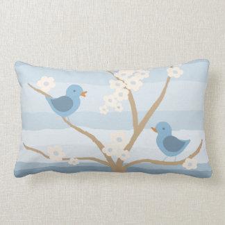 Bluebird Tree throw pillow