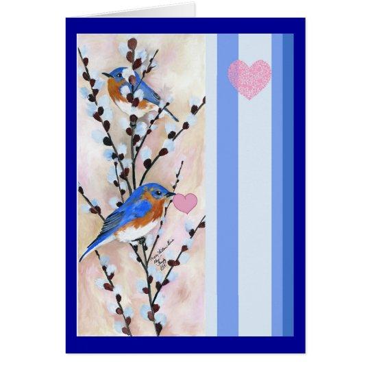 Bluebird valentine card