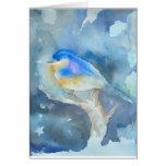 Bluebird Watercolor Art Card