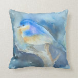 Bluebird Watercolor art pillow