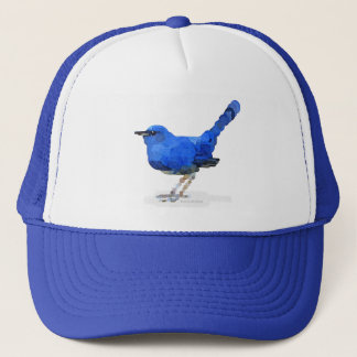 Bluebird Watercolor Trucker Hat