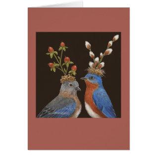 Bluebird Wedding Card at Zazzle