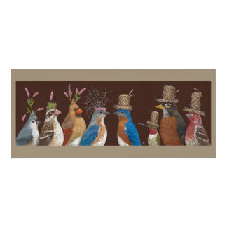 bluebird wedding party flat card