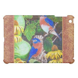 Bluebird with border iPad mini cases
