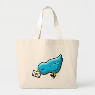 Bluebird with love letter bag