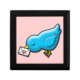 Bluebird with love letter gift box
