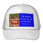 Bluebird with Thoreau Quote Mesh Hats