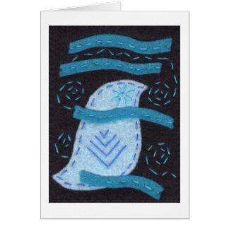 Bluebird y días ventosos tarjeta pequeña