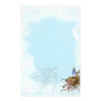 Bluebird y efectos de escritorio franceses de la e papelería de diseño