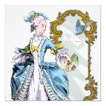Bluebird y espejo de Marie Antonieta Invitación