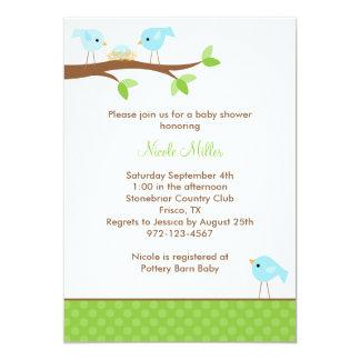 Bluebirds and Nest Baby Shower Invitation