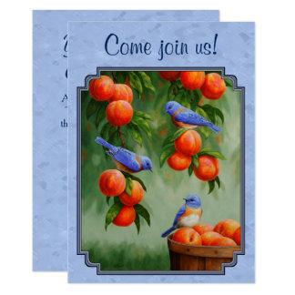 Bluebirds and Peaches Blue Card