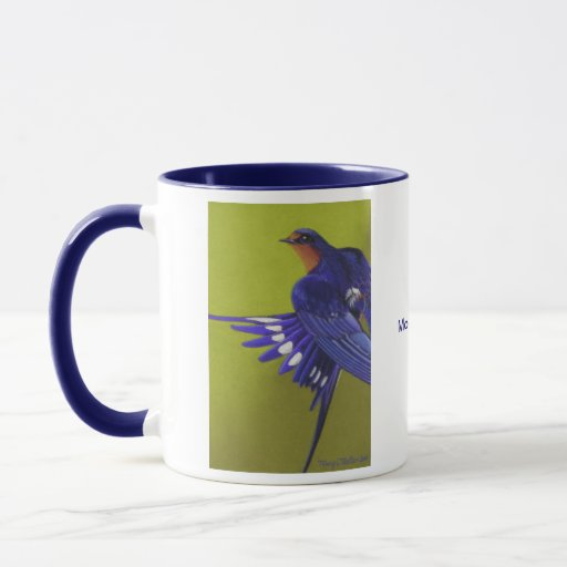 Bluebirds, Barn Swallows Mug
