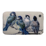 Bluebirds de París del vintage iPhone 3 Cobertura