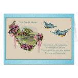 Bluebirds del día de madre del vintage felicitaciones