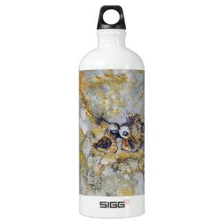 Bluebirds en el arte de la nieve botella de agua