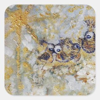 Bluebirds en la colección del regalo del arte de pegatina cuadrada