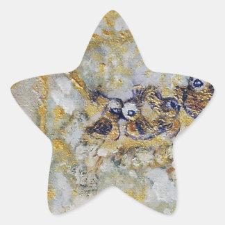 Bluebirds en la colección del regalo del arte de pegatina en forma de estrella